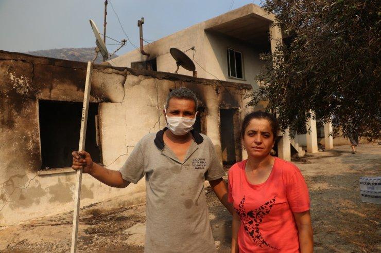 """Evleri yanan vatandaşlar: """"Canımızı zor kurtardık"""""""