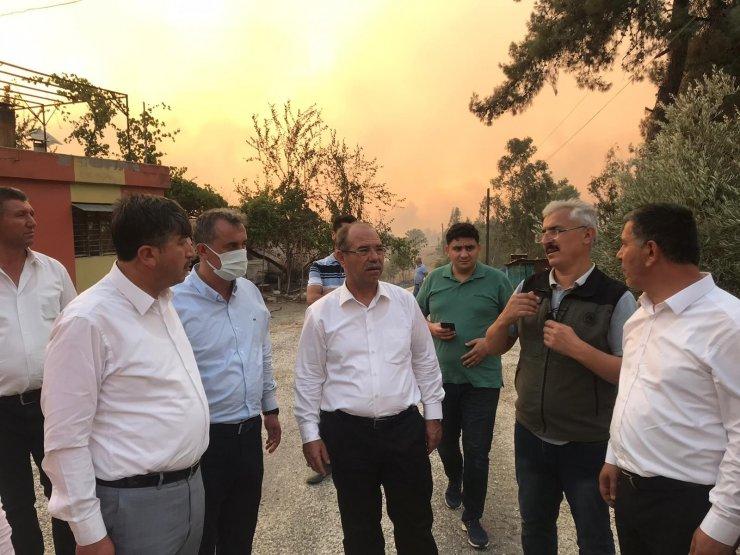 Osmaniye Milletvekili Durmuşoğlu yangın bölgesinde gözyaşlarına hakim olamadı