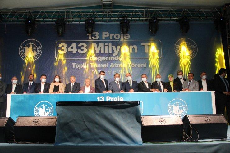 Sivas'ta 343 milyon TL'lik 13 projenin temeli atıldı