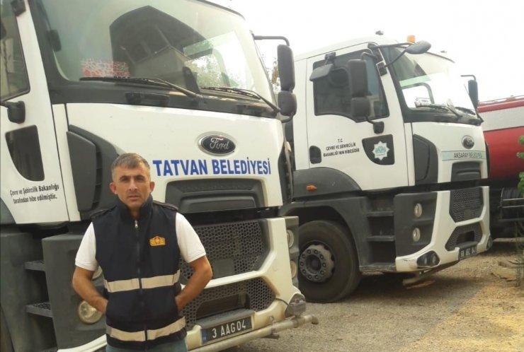 Tatvan Belediyesinden Manavgat'a araç ve personel desteği