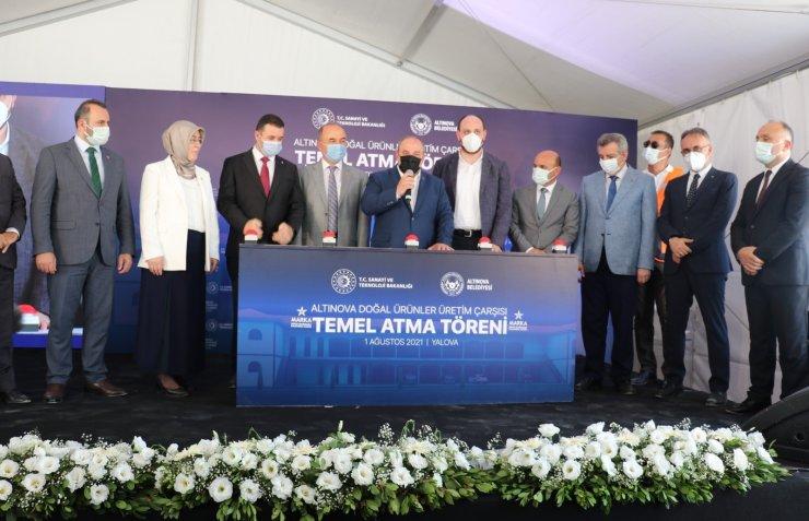 Bakan Varank, Altınova Yöresel Ürünler Merkezi'nin temelini attı