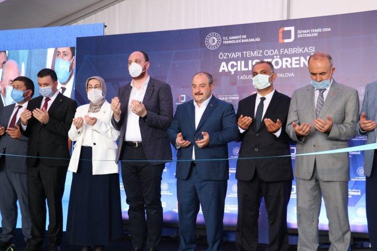 Bakan Varank'ın açılışını yaptığı fabrika temiz oda sistemlerinde ithalatı azaltmayı hedefliyor
