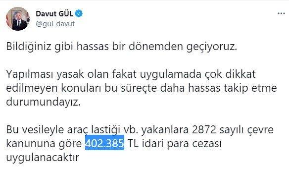 Araç lastiği yakanlara 402 bin TL ceza kesilecek