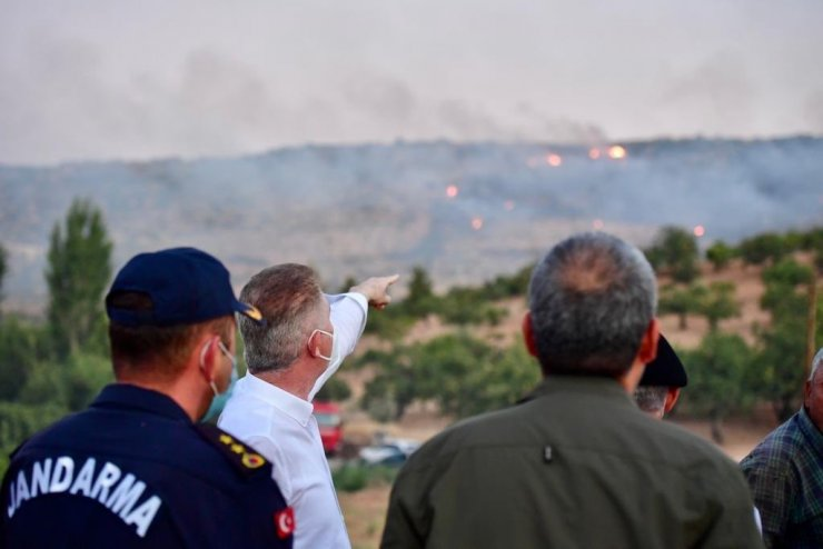 Vali Gül'ün yangın hassasiyeti