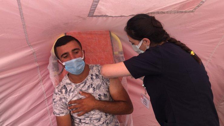 Kars'ta 200 bin aşı yapıldı