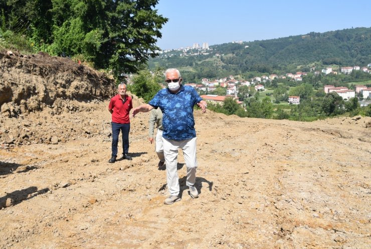 Başkan Posbıyık, alternatif yol çalışmalarını inceledi