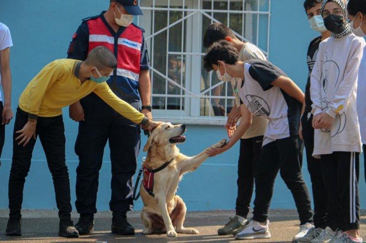 Bursa'da jandarma, okul çevrelerinde denetim yaptı