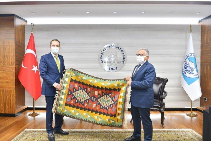 YRP Genel Başkanı Erbakan, Büyükkılıç'ı ziyaret etti