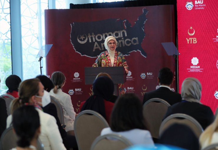 """Emine Erdoğan """"Osmanlı'nın Amerika'sı"""" belgesel filminin ABD'deki tanıtımına katıldı"""