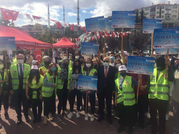 Avrupa Hareketlilik Haftası'nda Keçiören'de pedallar çevrildi