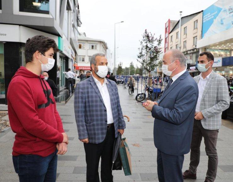 Başkan Özlü, İstanbul Caddesi'nde ki çalışmaları inceledi