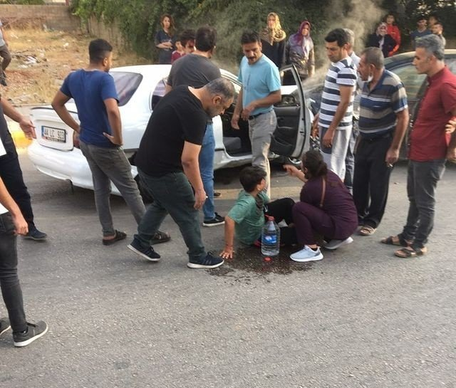 Adıyaman'da, iki otomobil çarpıştı: 1 yaralı