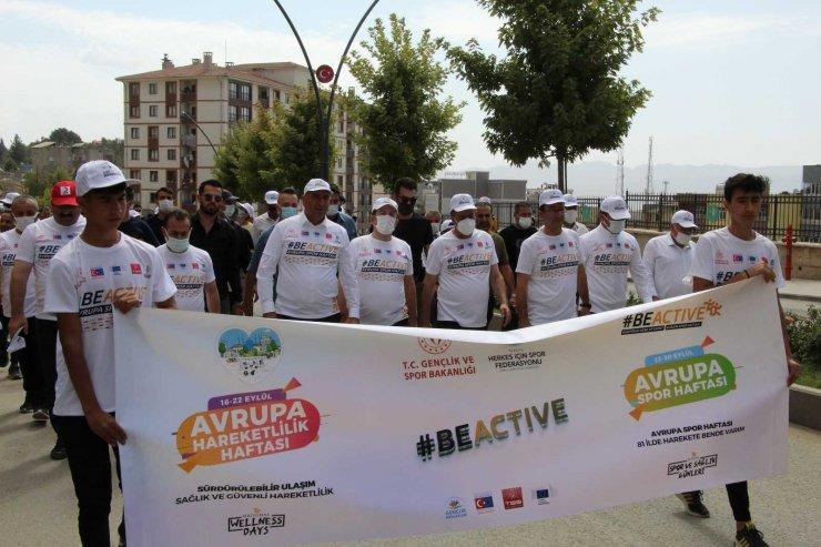 Şırnak'ta hareketlilik haftası yürüyüşü düzenlendi