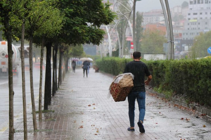 Zonguldak'ta sağanak yağış etkili oldu
