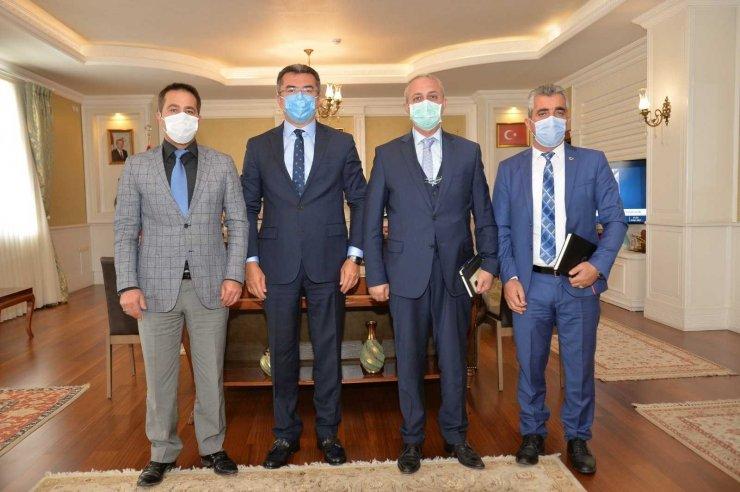 Büro Memur-Sen Erzurum şubesinden Vali Okay Memiş'e ziyaret