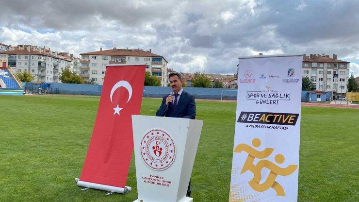Çankırı'da Avrupa Spor Haftası etkinlikleri