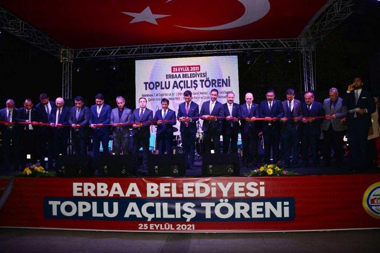 Erbaa'da 60 milyon TL'lik yatırımlar için toplu açılış töreni