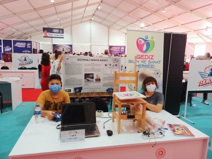Gediz BİLSEM öğrencileri, Teknofest 2021 finallerine katıldı