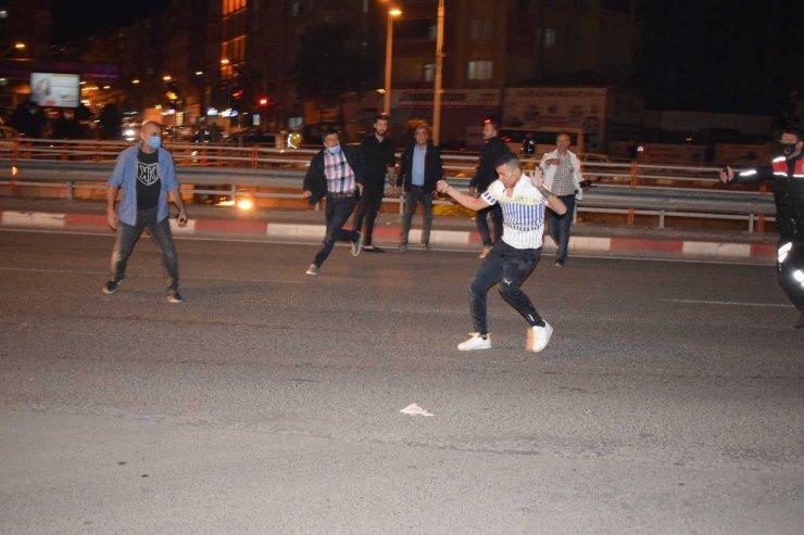 Polis merkezine gitmemek için intihara kalkıştı, biber gazı ile etkisiz hale getirildi