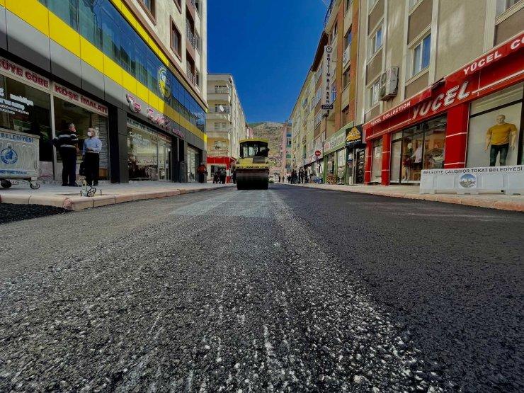 Tokat'ta caddeler yenileniyor