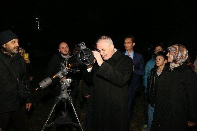 'Süper Ay', Ali Kuşçu Uzay Evi'nden gözlemlendi