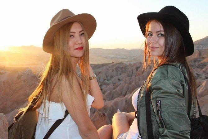 Kapadokya'da gün batımı keyfi