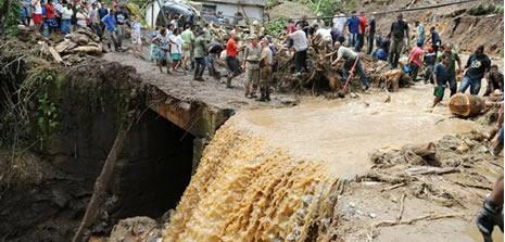 Brezilya'da heyelan felaketi