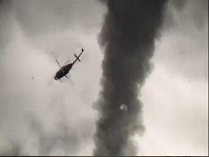 Hortuma kapılan helikopter
