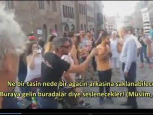 Almanya'daki Türk vatandaşı İsraillilerin yüzüne gerçekleri haykırdı