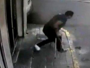 Ayağı kırık vatandaş depremden böyle kaçtı!