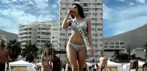 Miss Turkey güzeli hindi burger reklamı